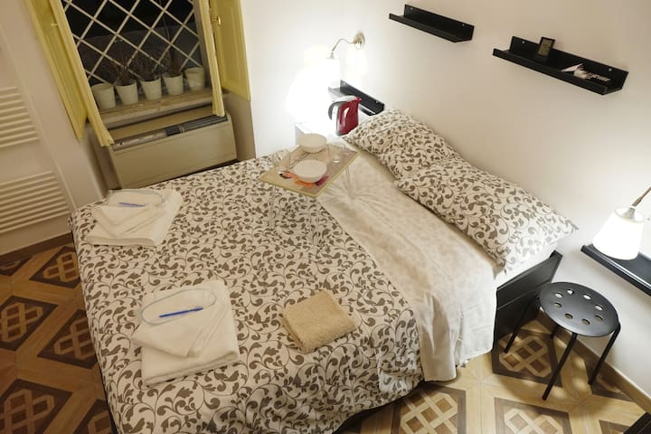 COLISEUM900-QuietFlat-Deluxe Room-Private Bathroom - Rome