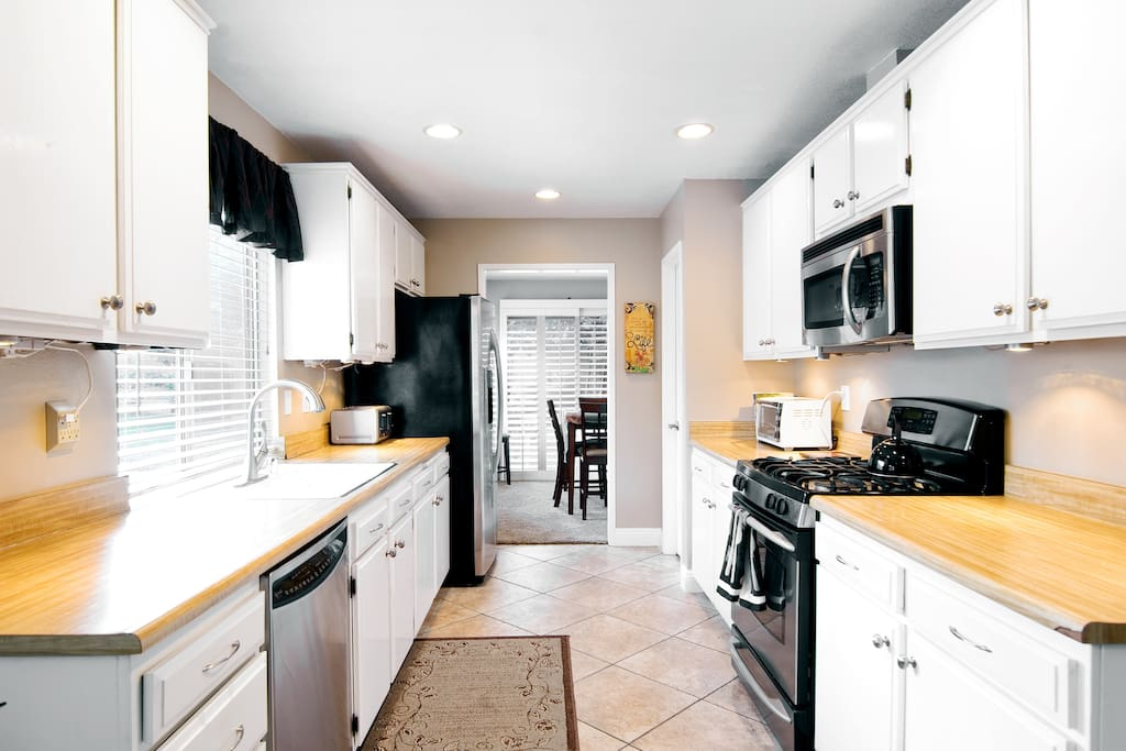 kitchen is equipped with everything you would need  to create an awesome meal or even do some baking everything you have at home then some