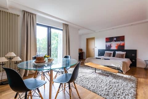 公寓3間臥室,安靜,遊泳池,靠近斯特拉斯堡