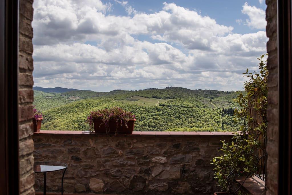 Lo stupendo panorama dalle nostre terrazze