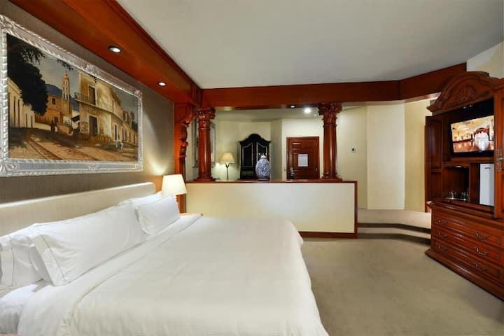 Beautiful Junior Suite Double Bed At San Luís Potosí