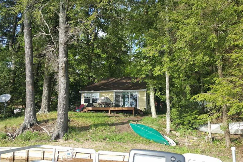 Back of cottage facing East Lake