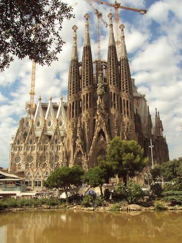 Beautiful Sagrada Familia flat