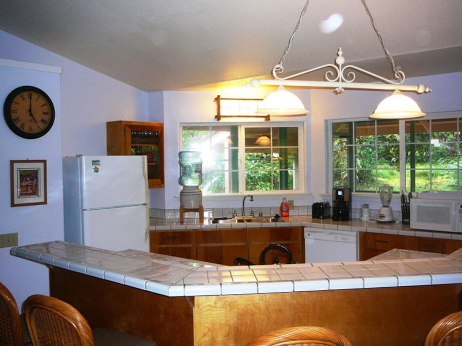 Kitchen and Bar Area. It's always 5 O'Clock at Hale Lezarde!