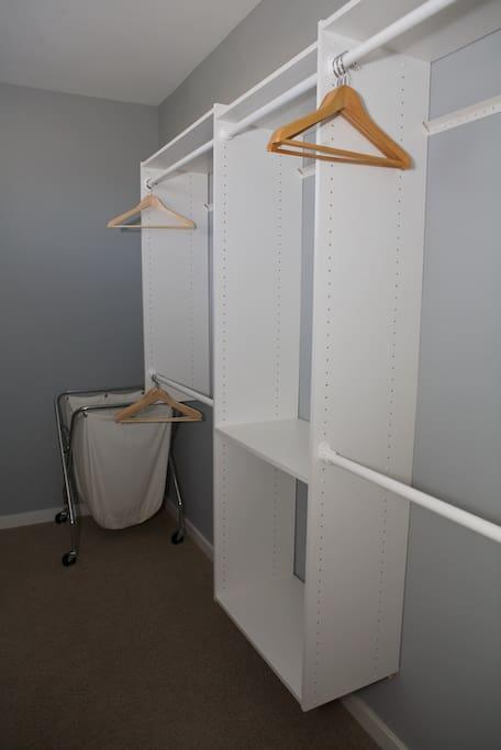 Private walk-in closet