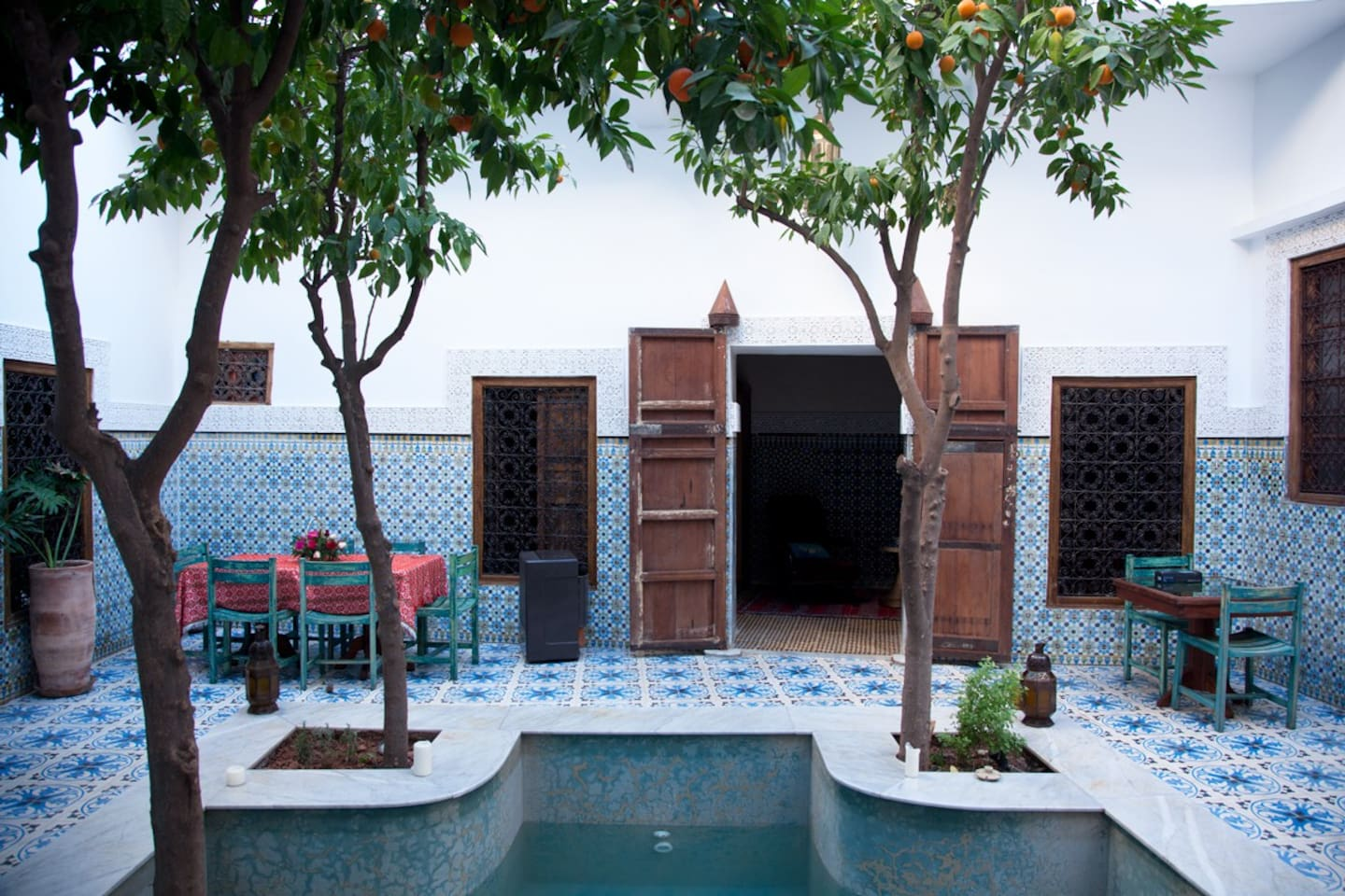 Riad main courtyard