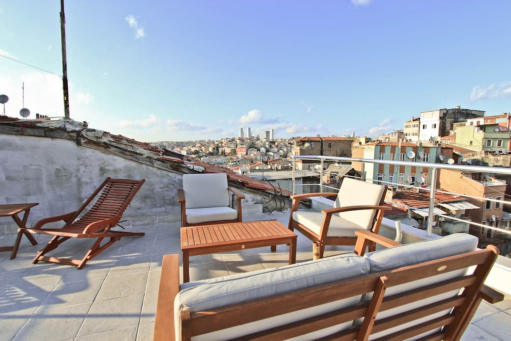 We have a nice rooftop terrace where anytime you can just sit, have a cup of tea and enjoy quality time.