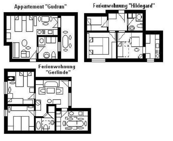 """Haus """"U"""", 3 Fewos bis 15 Personen"""