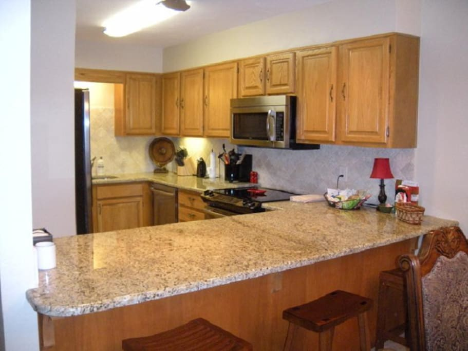 Unit B Gourmet Kitchen with all New Stainless Appliances