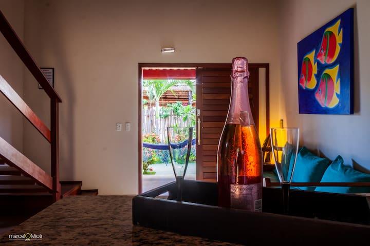 Pousada e apartamento Curva do Sol - São Miguel do Gostoso - 家庭式旅館