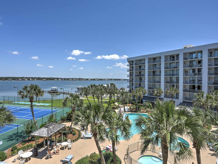 The condo is located in the Gulf Shores Surf and Racquet Club.