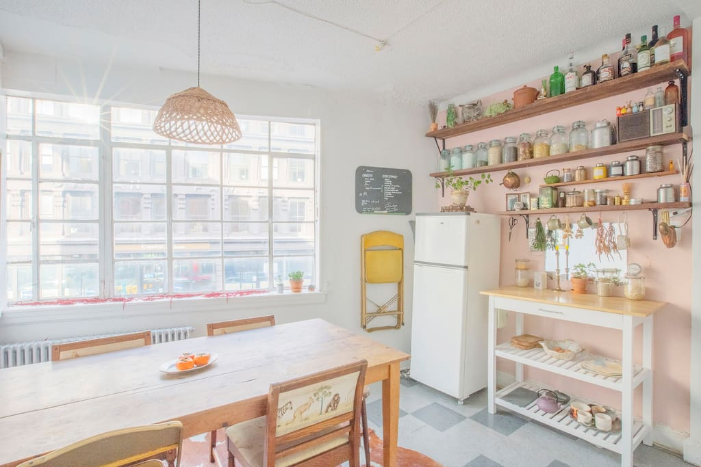 Kitchen with a view overlooking Broadway