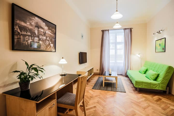 Cozy, new flat 4 in the heart of Prague, free wifi