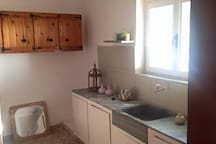 Fully equipped kitchen including fridge, kitchenette, boiler and all equipment needed.