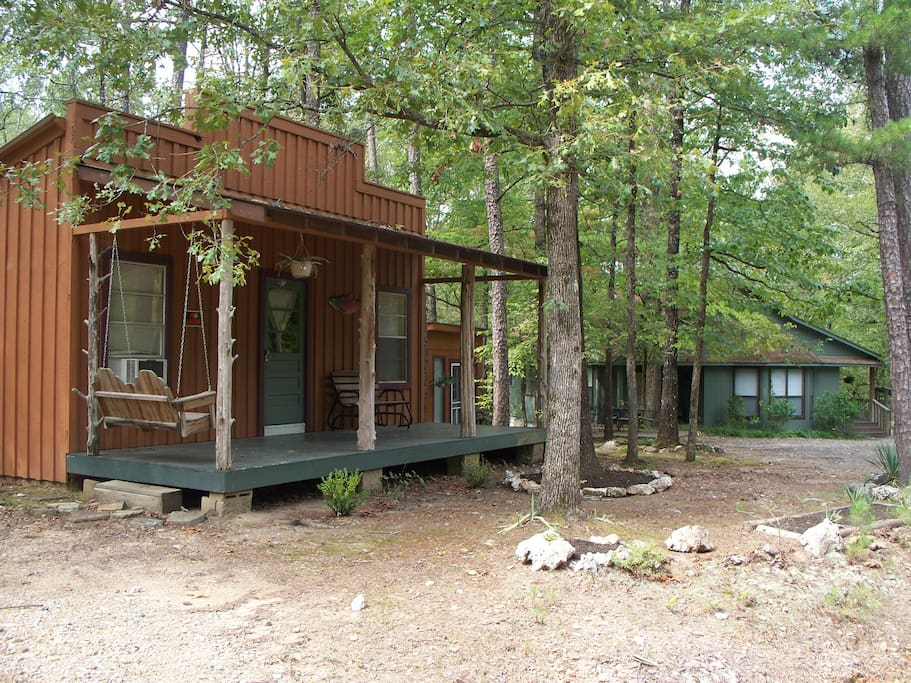 All 4 units are close together on 5 wooded acres.