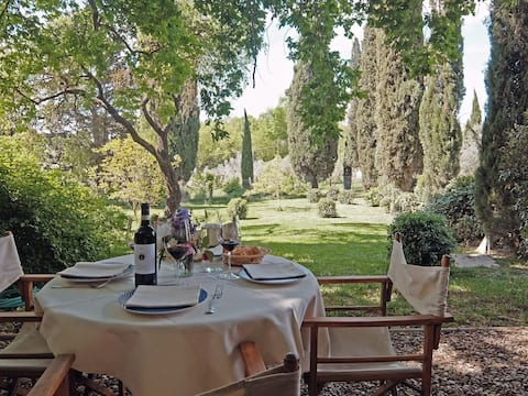 Two floors apartment with pool in Chianti Classico