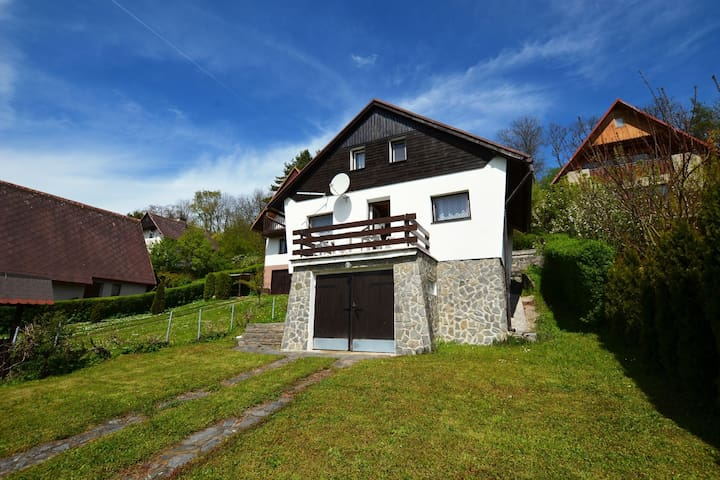 Detached cottage with fireplace, only 80 meters from the river Ohře