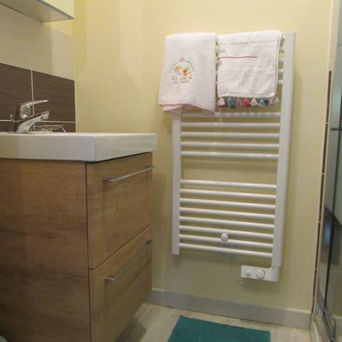 Serviettes de bain à votre disposition