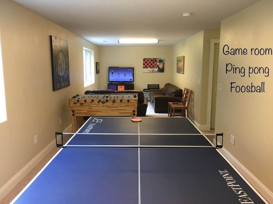 Ping Pong and Foosball in Game Room
