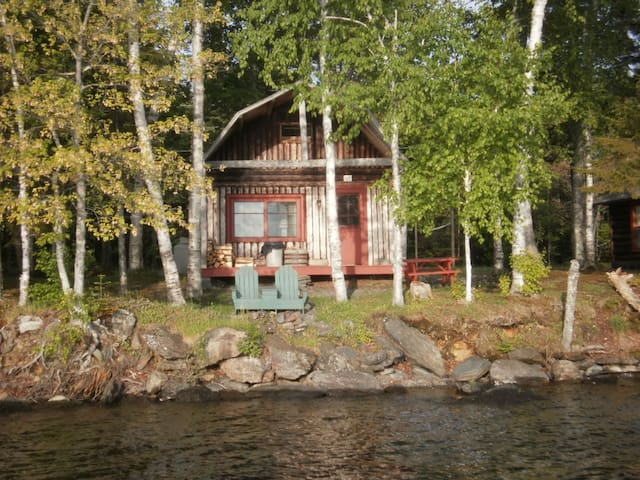 Log cabin on Moosehead lake
