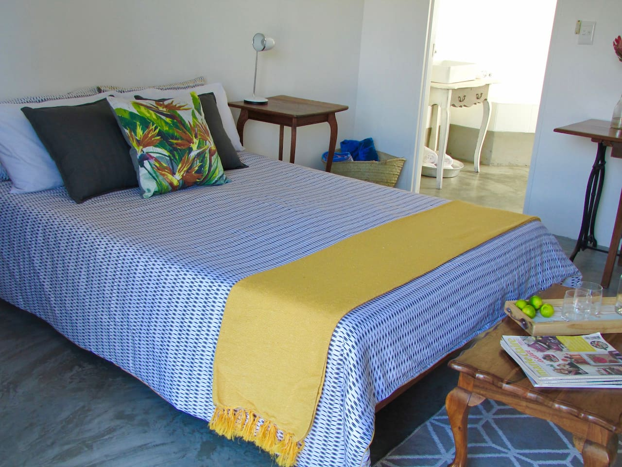 The Cosy Bedroom with On Suite Bathroom.  Blouberg, Blaauwberg, Sunningdale, Cape Town,  Western Cape,  South Africa.
