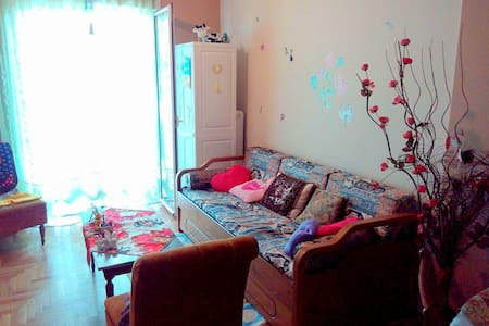 Friendly and sunny apartment :))) - Athina - Bed & Breakfast