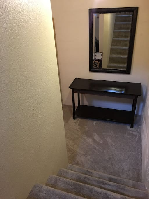 Stairs down to Basement Apartment