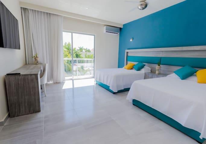 Suite#29 dlx 4pax con alberca a 15 min de la playa