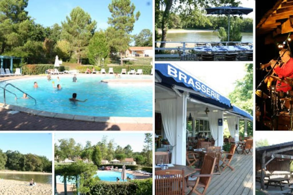 Facilities on the holiday parc