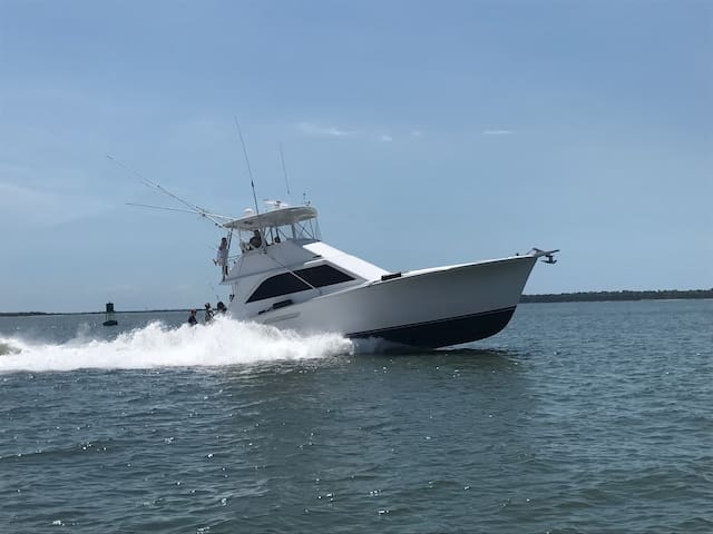 Ocean Yacht / Roomy, clean and new upholstery - Charleston - Barco