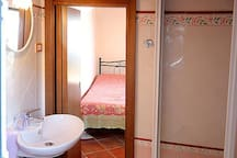Your private bathroom with the shower1
