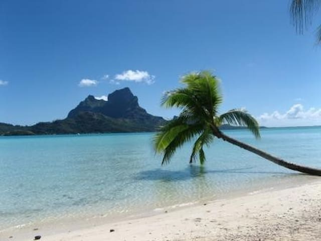View of Bora Bora from Motu Piti Aau