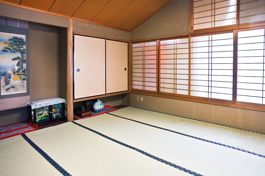 Big Tatami room for two in  Kyoto