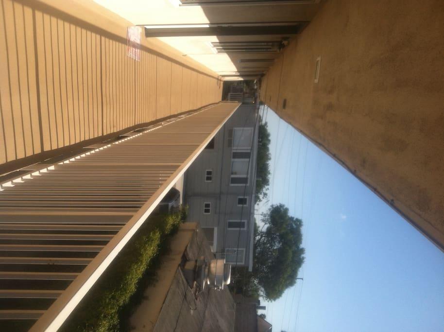 Walkway overlooking the courtyard on the way to sweet number 4!...