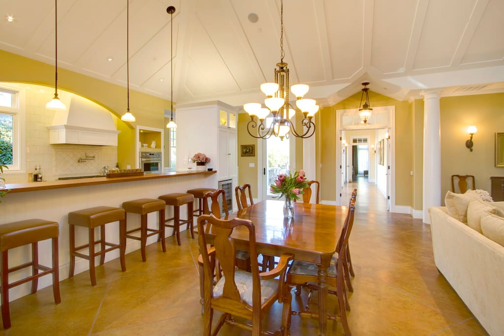 Elegant dining for 8 and so convenient to the kitchen