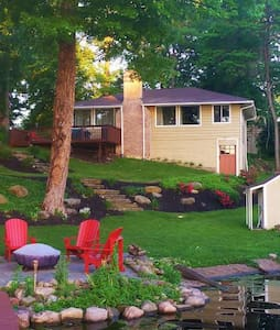 Comfort Cottage -on the Lake - Akron - Huis