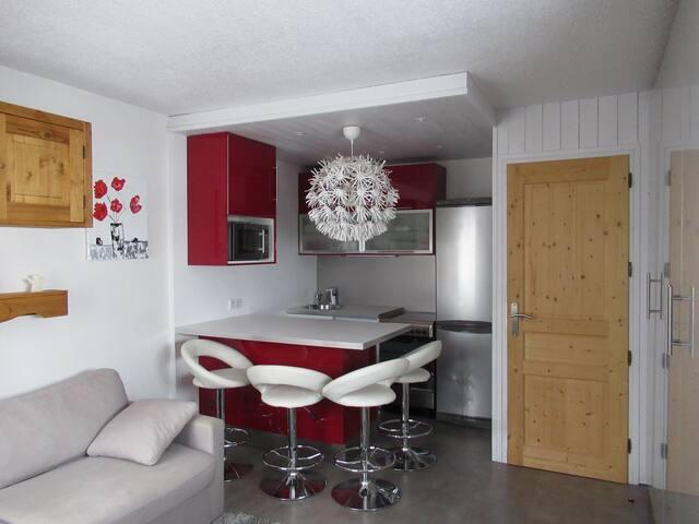 Tignes Val Claret,Appartement équipé  4 personnes