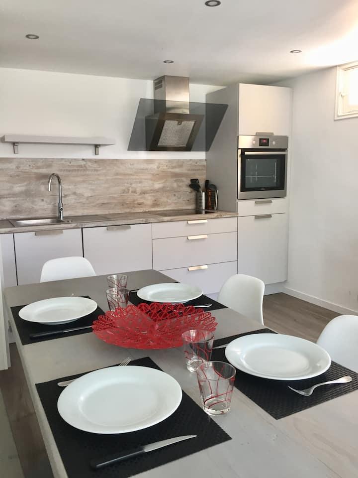 Appartement climatisé 3 pièces 70 m2 avec jardin