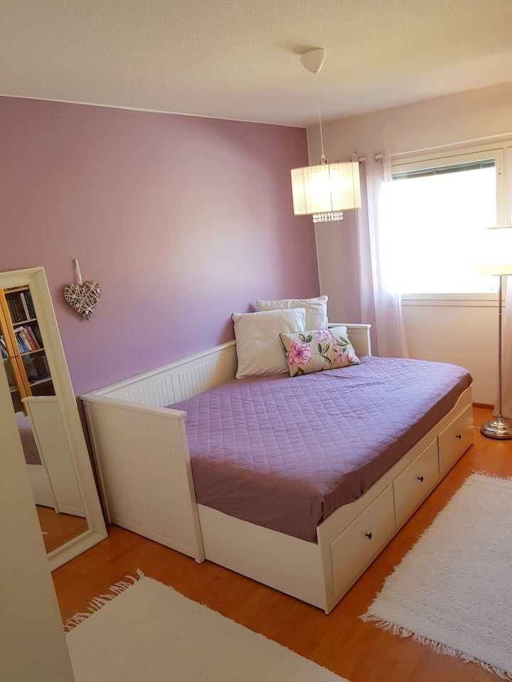 Single room for 2, Jokela. Airport 30min.