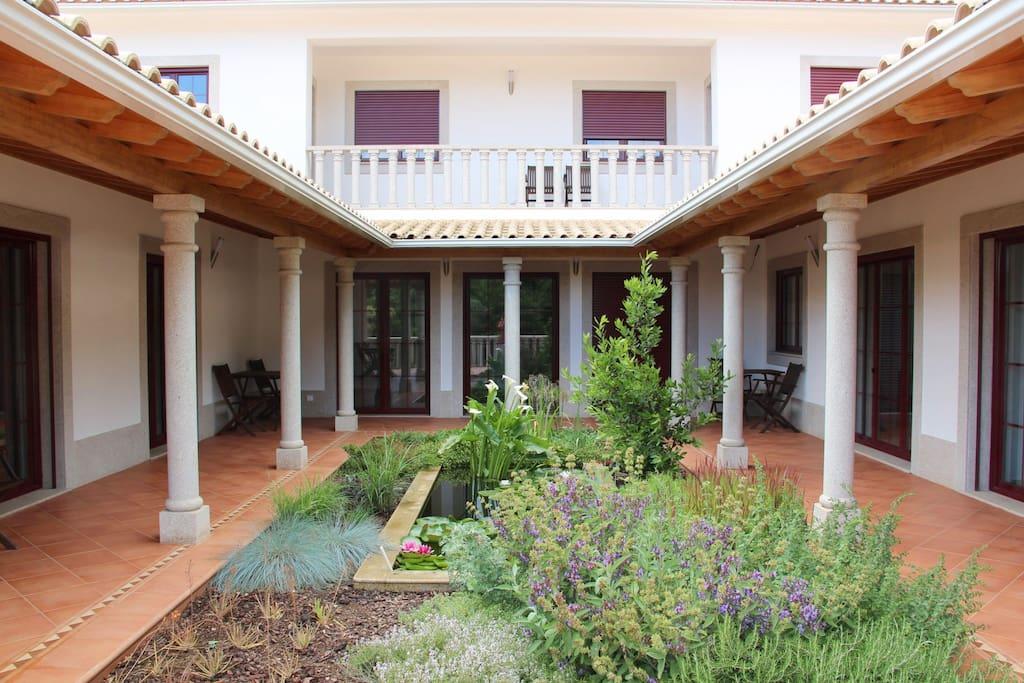 interior garden in Roman style