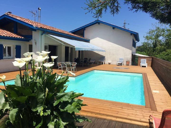 Villa with 6 bedrooms in Bidart, with private pool, terrace and WiFi
