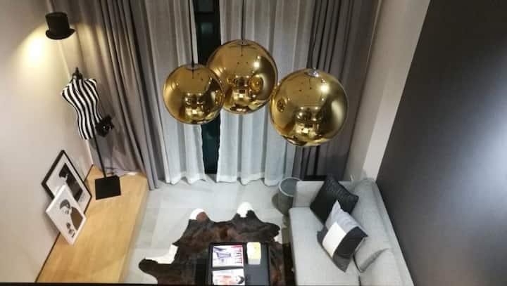福田八卦岭 园岭红岭北双地铁 美食街 时尚复式公寓2整租