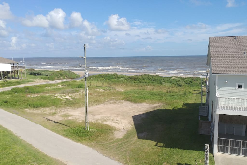 This is your view. The beach is a few steps away!