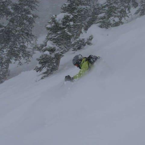 Powder skiing!