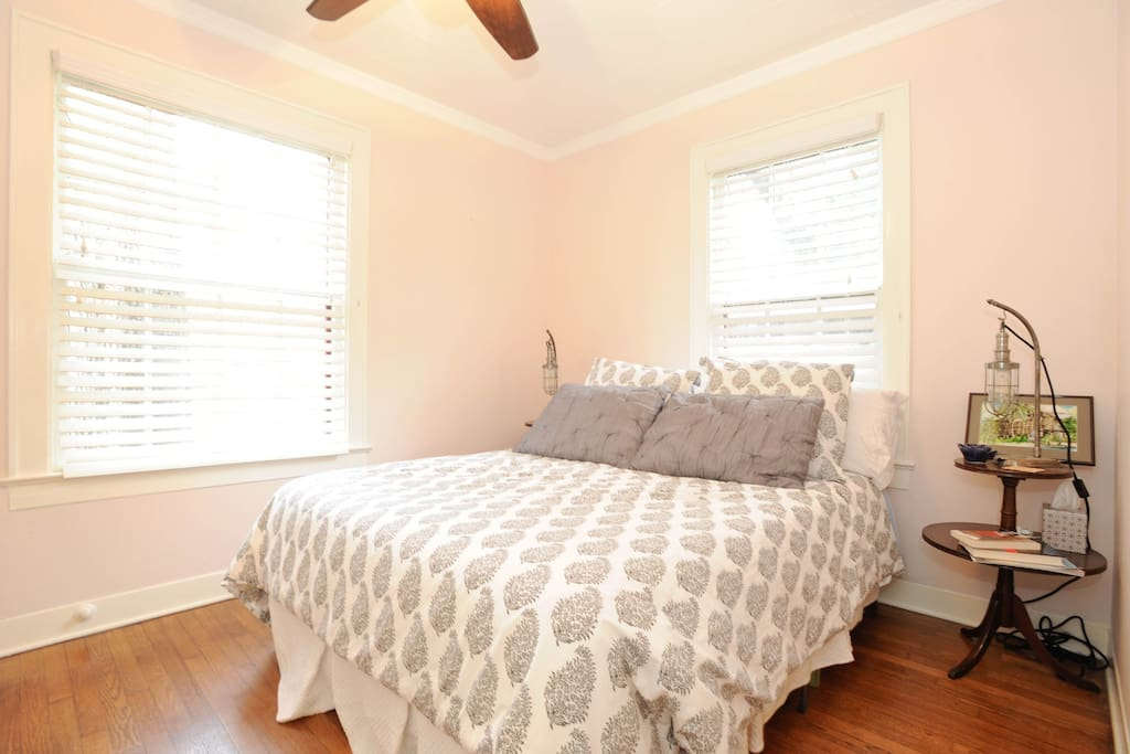 Lots on natural light in first floor bedroom