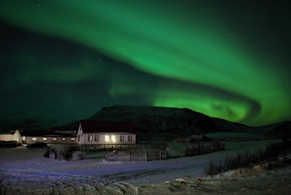 Northern Lights at the guesthouse