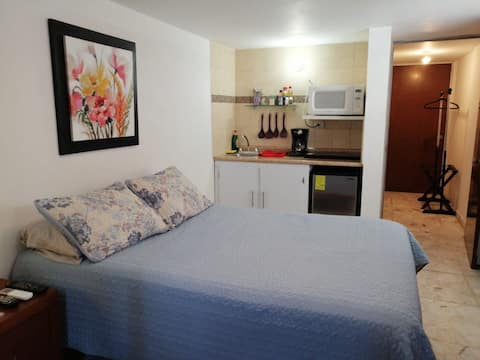 Downtown Loft has all the comforts.