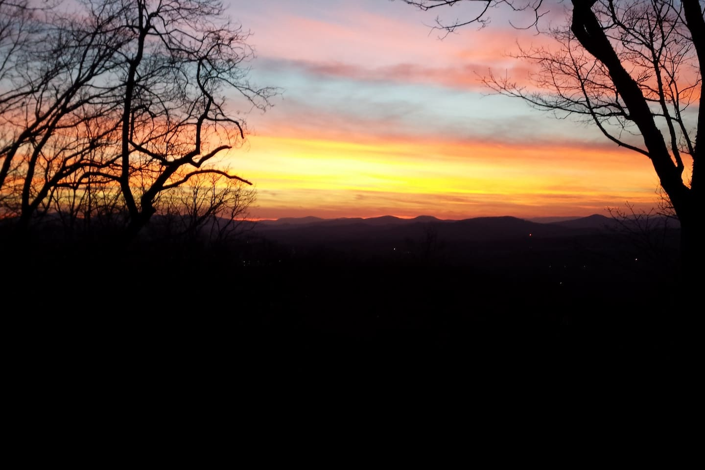 Mountains are all around the landscape...sunsets are great.