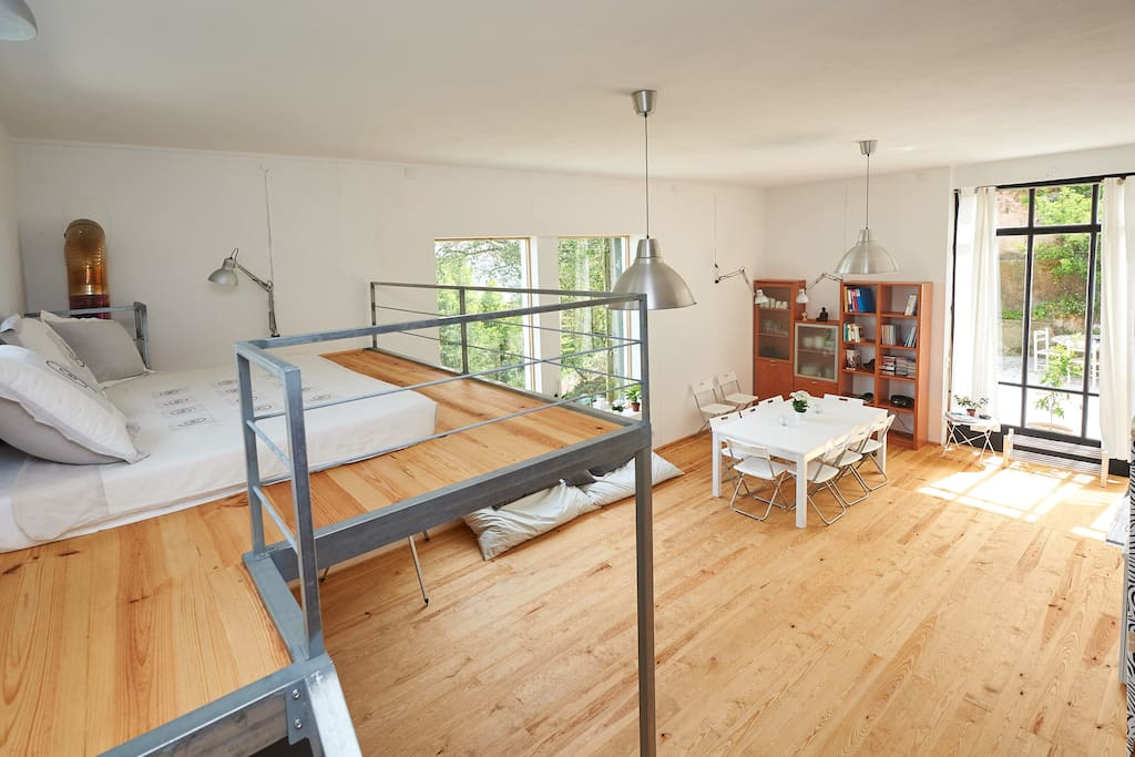 Mezzanine with double bed