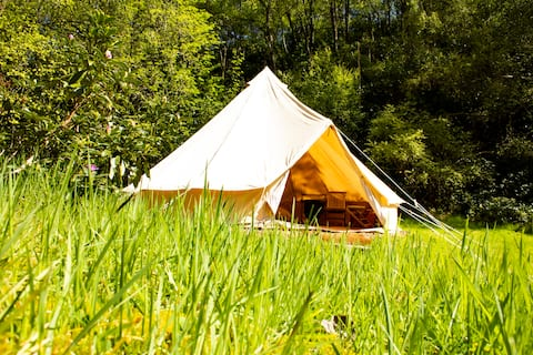 Comfortable camping in whisky country (Rowan Tent)